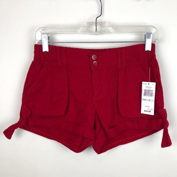 Jolt Pants - Jolt Red Shorts NEW NWT 0 Nordstrom